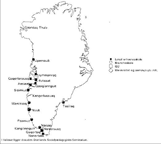 Indsigt Uddannelsesomradet I Gronland I 1995 96